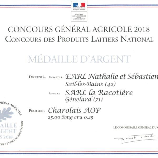CGA 2018 Charolais AOP La Racotière